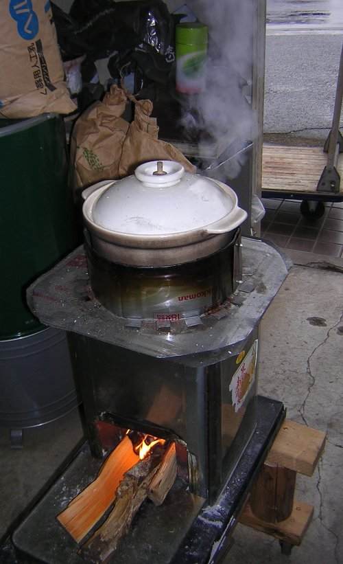 一日店長の試食米、炊飯練習